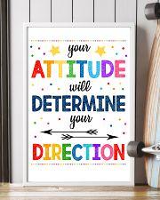 Teacher Attitude Determines Direction 11x17 Poster lifestyle-poster-4