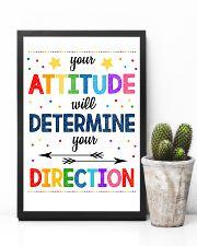 Teacher Attitude Determines Direction 11x17 Poster lifestyle-poster-8