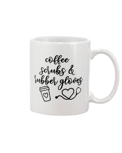 Coffee Scrubs Rubber Gloves CNA