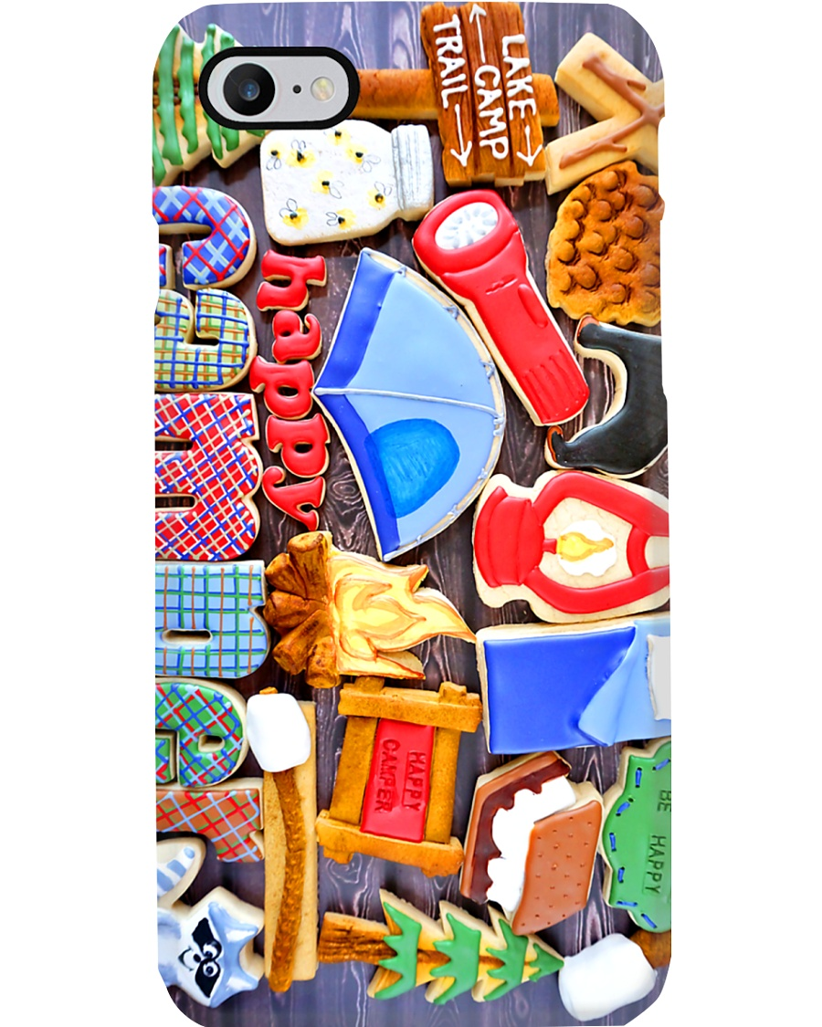 Happy Camper Cookie Camping Phone Case