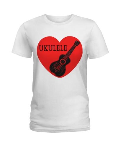 Red Heart Love Ukulele