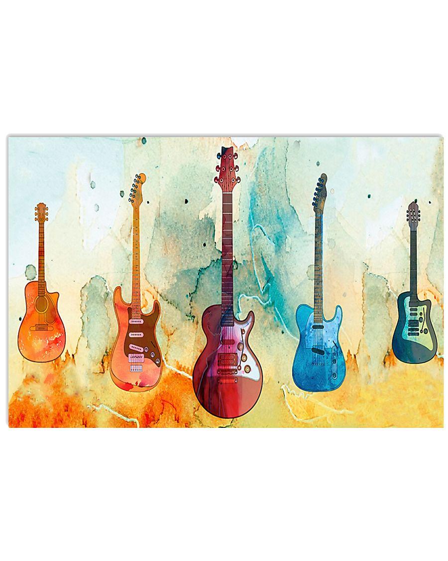 Guitar Art Real 17x11 Poster