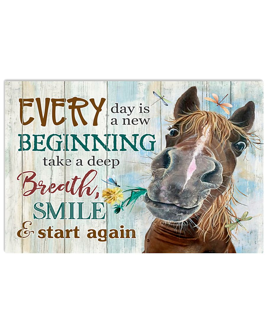 Horse Girl Every Day Is A New Beginning  17x11 Poster