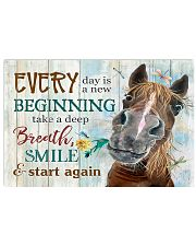 Horse Girl Every Day Is A New Beginning  17x11 Poster front