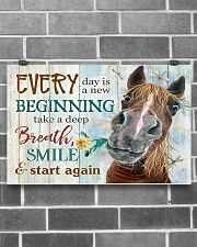Horse Girl Every Day Is A New Beginning  17x11 Poster poster-landscape-17x11-lifestyle-18