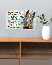 Horse Girl Every Day Is A New Beginning  17x11 Poster poster-landscape-17x11-lifestyle-24