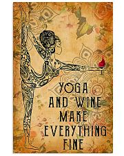 Yoga and wine make everything fine 11x17 Poster front