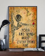 Yoga and wine make everything fine 11x17 Poster lifestyle-poster-2