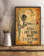 Yoga and wine make everything fine 11x17 Poster lifestyle-poster-3