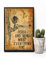 Yoga and wine make everything fine 11x17 Poster lifestyle-poster-8