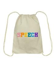 Speech Language Pathologist Gift Drawstring Bag thumbnail