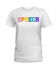 Speech Language Pathologist Gift Ladies T-Shirt front