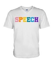 Speech Language Pathologist Gift V-Neck T-Shirt thumbnail