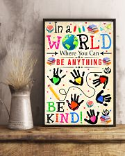 Social Worker Be Kind 11x17 Poster lifestyle-poster-3