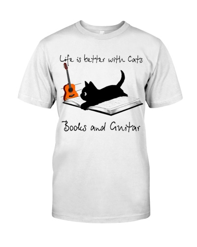 Cats Books and Guitars