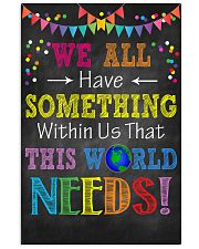 Social Worker We have  11x17 Poster front