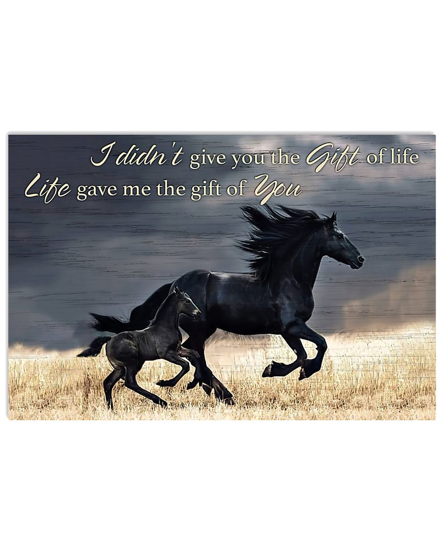 Horse Girl - Life gave me the gift of you 17x11 Poster