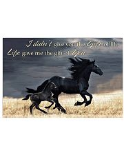 Horse Girl - Life gave me the gift of you 17x11 Poster front