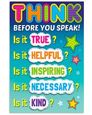 Teacher Think Before You Speak 11x17 Poster front