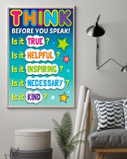 Teacher Think Before You Speak 11x17 Poster lifestyle-poster-1