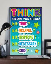 Teacher Think Before You Speak 11x17 Poster lifestyle-poster-2