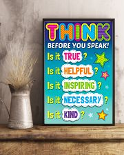 Teacher Think Before You Speak 11x17 Poster lifestyle-poster-3