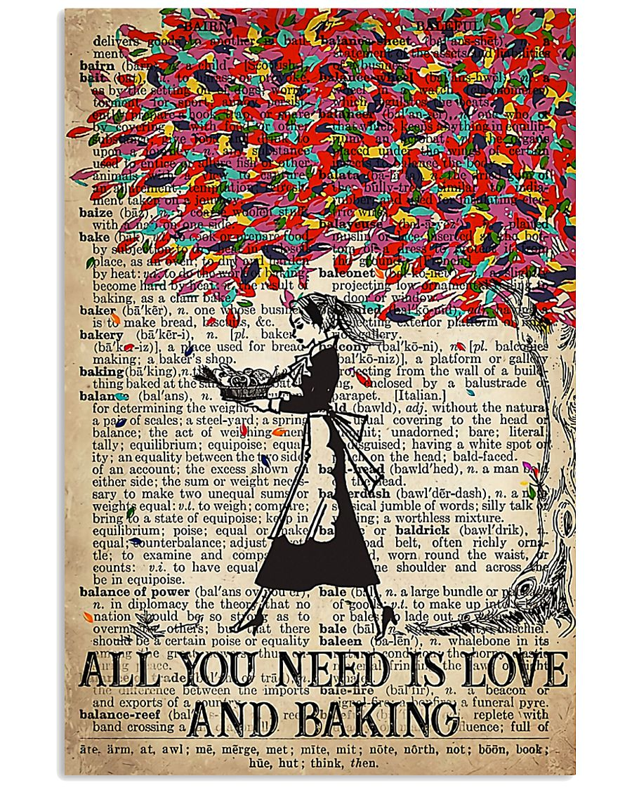 Baker All You Need Is Love And Baking 11x17 Poster