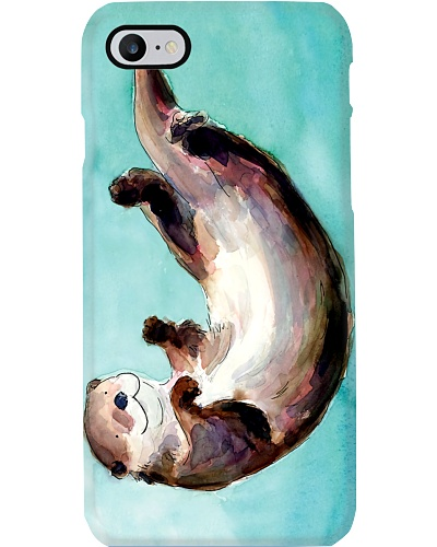 Otter Watercolor Blue