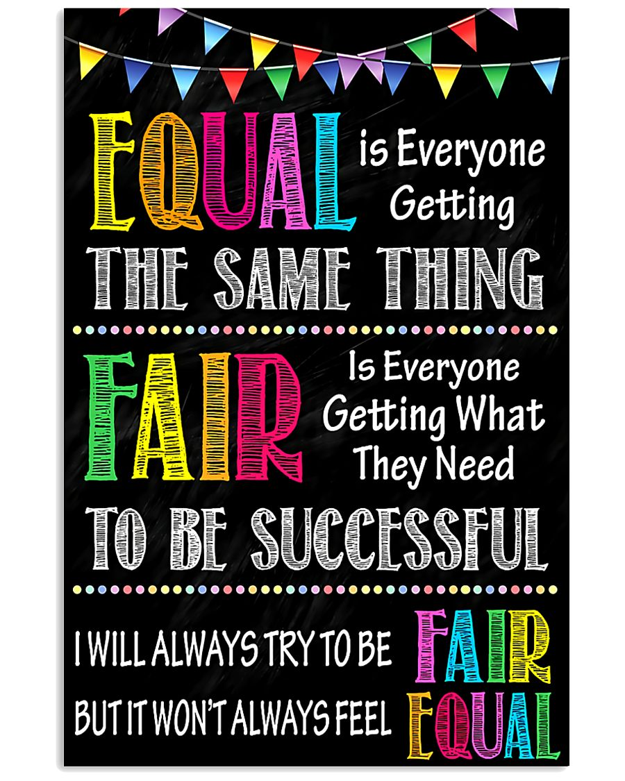 Social Worker Equal And Fair 11x17 Poster