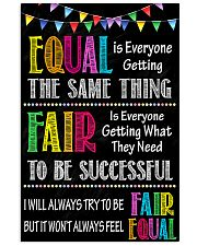 Social Worker Equal And Fair 11x17 Poster front