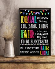 Social Worker Equal And Fair 11x17 Poster lifestyle-poster-3