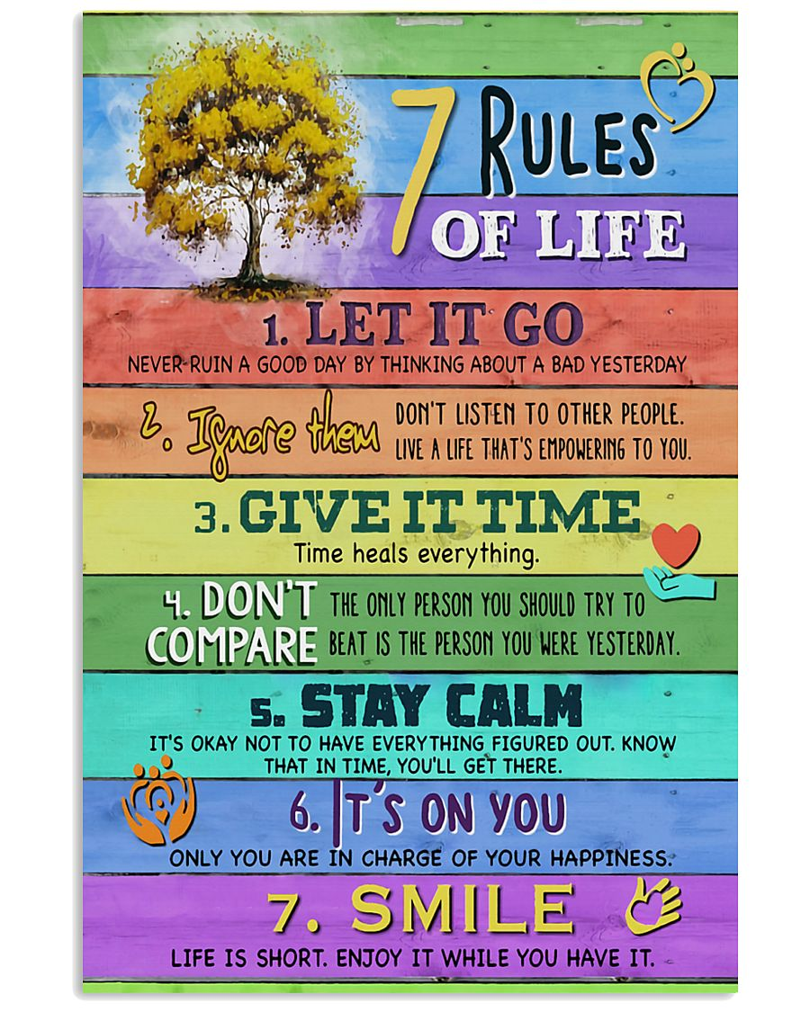 Social Worker 7 Rules Of Life 11x17 Poster