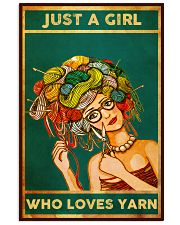 Crochet And Knitting Just A Girl Who Loves Yarn 11x17 Poster front