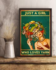 Crochet And Knitting Just A Girl Who Loves Yarn 11x17 Poster lifestyle-poster-3