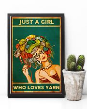 Crochet And Knitting Just A Girl Who Loves Yarn 11x17 Poster lifestyle-poster-8