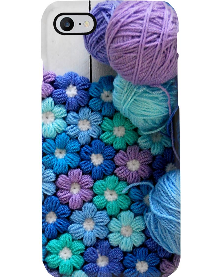Crochet And Knitting Flower Phone Case