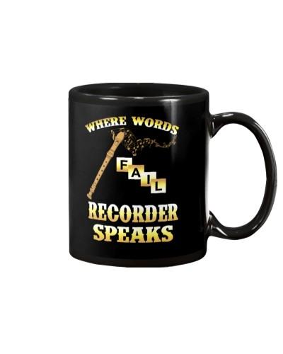 Where words fail Recorder speaks