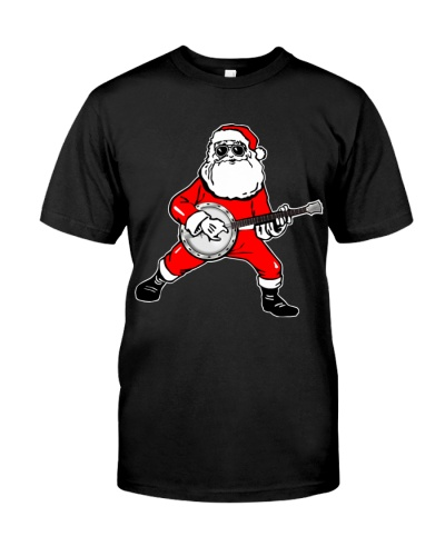 Funny Christmas Santa Playing Banjo