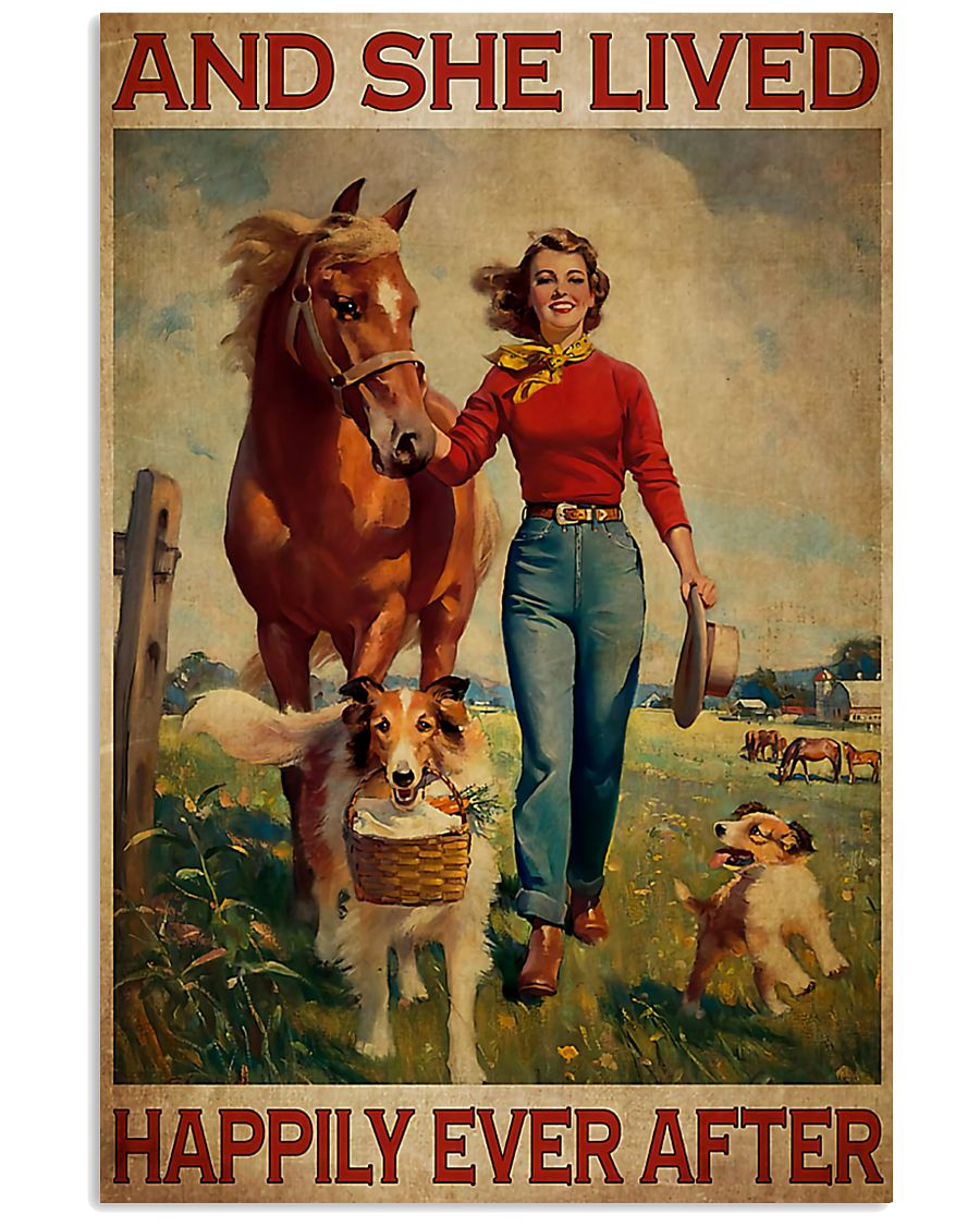 Horse Girl And She Lived Happily Ever After 11x17 Poster