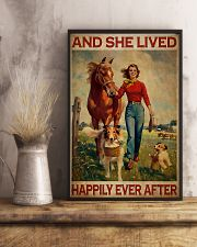 Horse Girl And She Lived Happily Ever After 11x17 Poster lifestyle-poster-3
