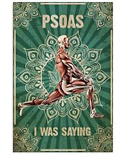 Massage Therapist PSOAS I Was Saying 11x17 Poster front