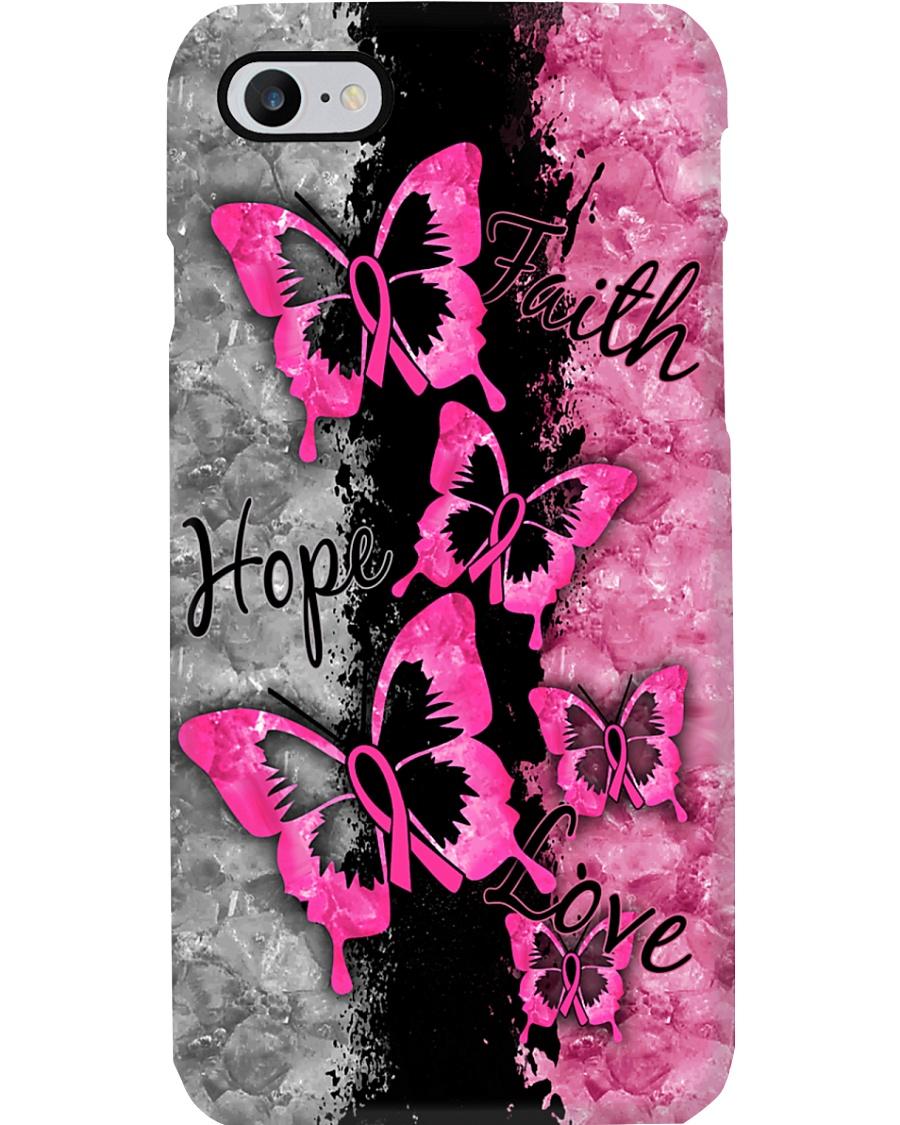 Breast Cancer Awareness Faith Hope Love Phone Case