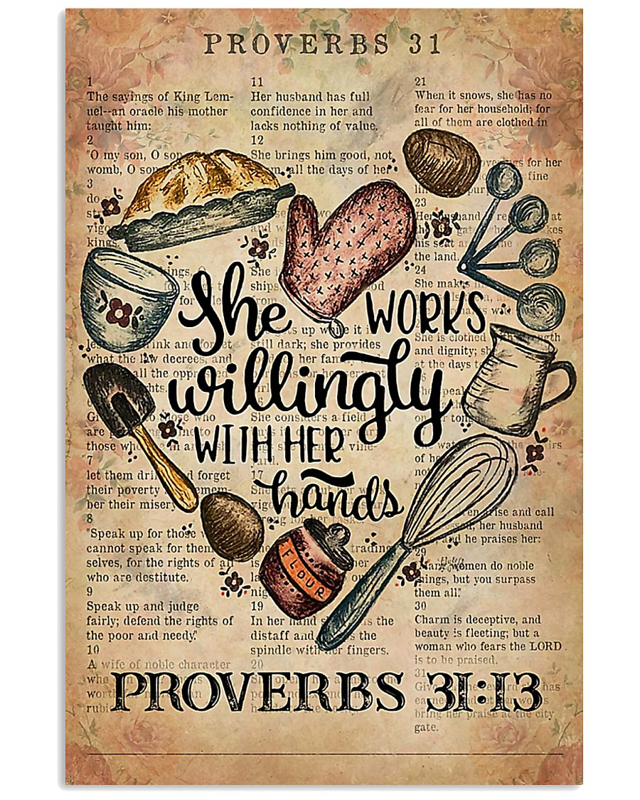 Baking She Works Willingly With Her Hands 11x17 Poster