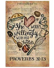 Baking She Works Willingly With Her Hands 11x17 Poster front