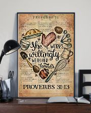 Baking She Works Willingly With Her Hands 11x17 Poster lifestyle-poster-2