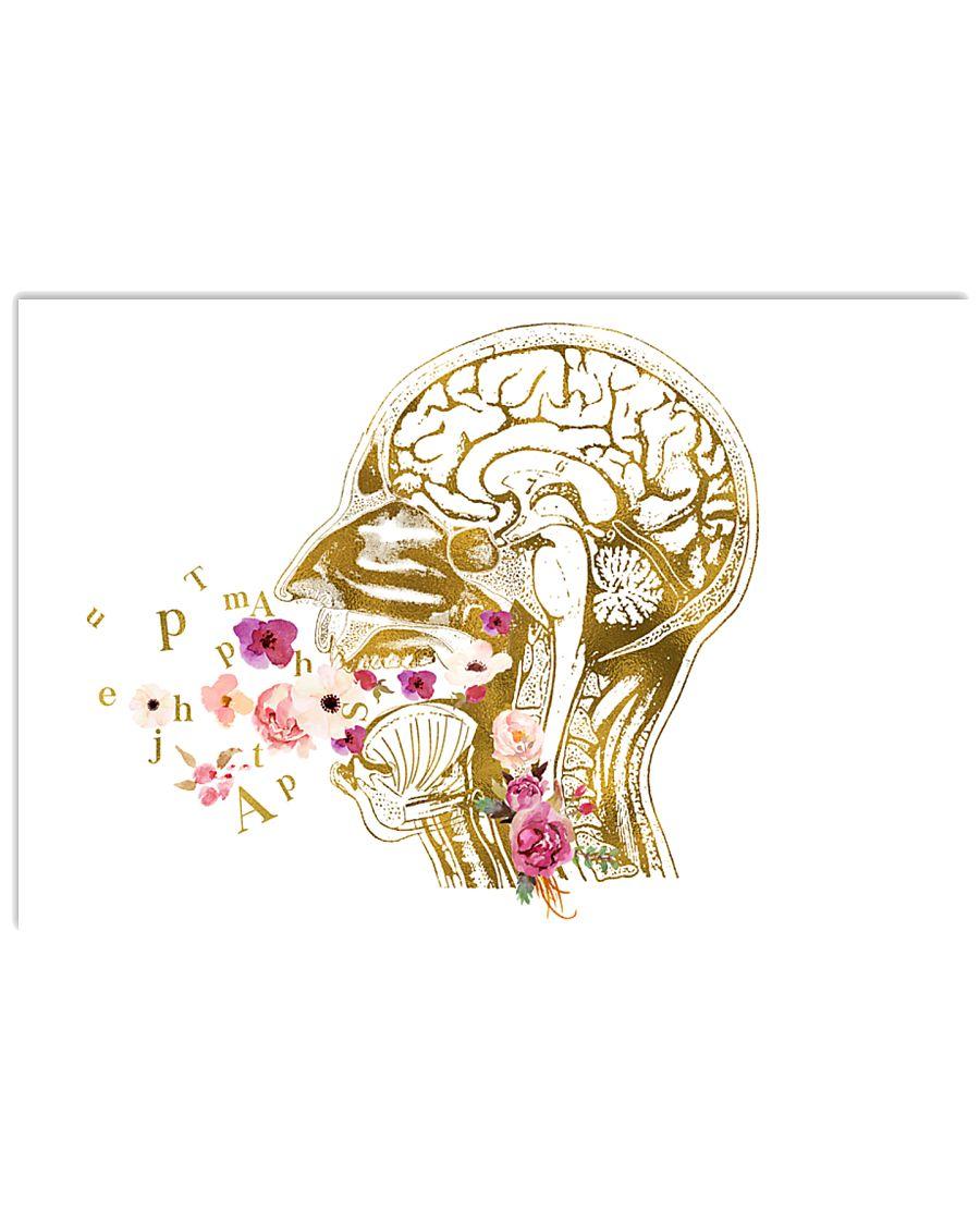 Speech Language Pathologist Head Anatomy 17x11 Poster