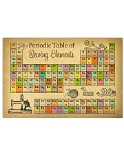 Periodic Table Of Sewing Elements 17x11 Poster front
