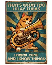 Tubist I play tubas and I drink wine 11x17 Poster front