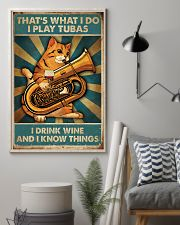 Tubist I play tubas and I drink wine 11x17 Poster lifestyle-poster-1