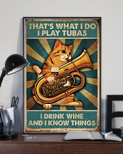 Tubist I play tubas and I drink wine 11x17 Poster lifestyle-poster-2